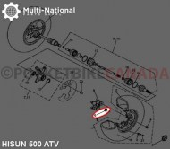 Slotted_Nut_ _Castle_Nut_M22 1 5_Hisun_500 800cc_ATV UTV_1pc_1