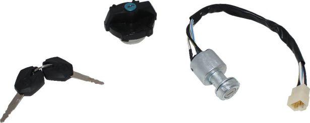 Ignition Key Switch - XY1100, Chironex 1000cc, 1100cc, with Lockable Gas  Cap - PBC3355F1 - PowerSport America - ATV Parts, Dirt Bike Parts, UTV  Parts,
