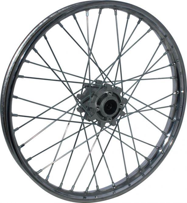 rim - front 19 u0026quot  chrome  steel dirt bike rim 1 40x19 disc brake - pbc2850f1