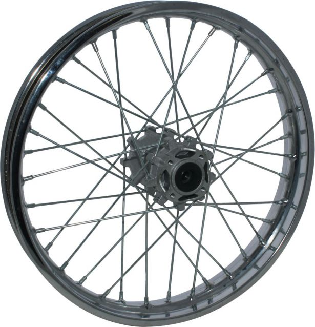 "Rear 18"" Chrome, Steel Dirt Bike Rim 2.15x18 Disc"