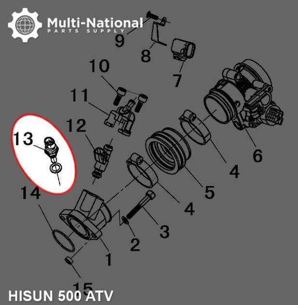 Water Temperature Sensor - Hisun, 400-800cc, ATV/UTV - PBC3674F1 -  PowerSport America - ATV Parts, Dirt Bike Parts, UTV Parts, Scooter Parts,  Electric