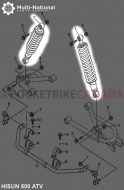 Shock_ _365mm_10mm_Spring_Adjustable_Hisun_Rear_500 700cc_1