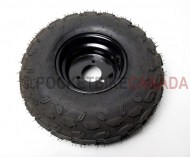 145/70-6 ST SuTong Tubeless Tire & 3 Hole Black Rim for ATV - G1010094